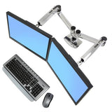 Ergotron LX Dual Side-by-Side Arm (Polished Aluminium) (45-245-026)