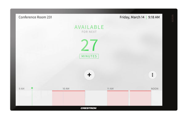 Crestron TSS-770-B-S  7 in. Room Scheduling Touch Screen, Black Smooth