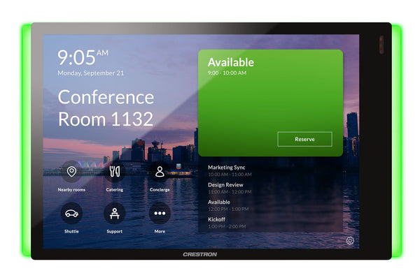 Crestron  TSS-770-T-B-S-LB KIT 7 in. Room Scheduling Touch Screen for Microsoft Teams Includes Light Bar