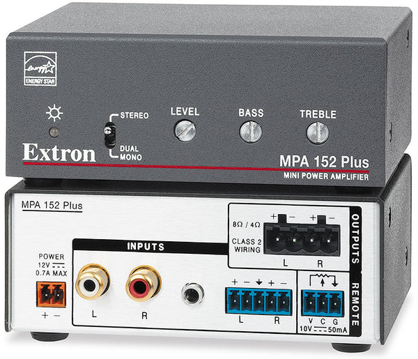Extron MPA 152 Plus Stereo Amplifier - 15 Watts Per Channel