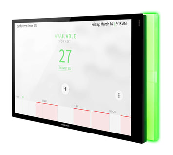 Crestron TSS-1070-W-S-LB KIT 10.1 in. Room Scheduling Touch Screen, White Smooth, includes one TSW-1070-LB-W-S light bar