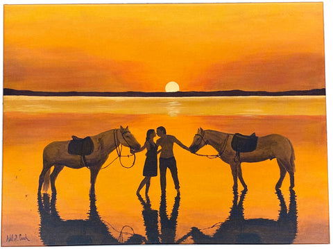 "Perfect Sunset, Limited Edition Giclée on Canvas Print, 24"" x 18"""