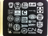 Color Your World, Black Train Logo MousePad
