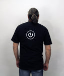 iBored, Black Powerup T-Shirt (Mens and Ladies cuts)
