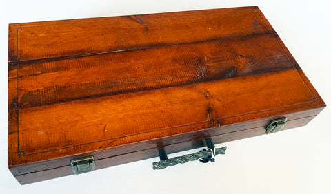 "Fancy Red Mahogany Presentation Box, 19"" x 10"" x 2"""
