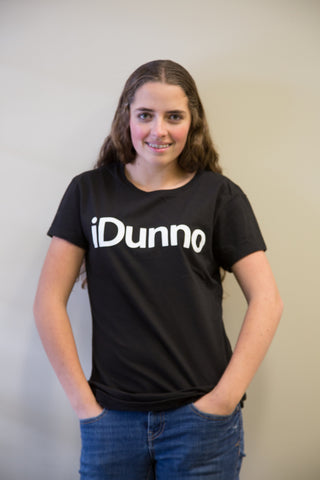 iDunno, Black Powerup T-Shirt (Mens and Ladies cuts)