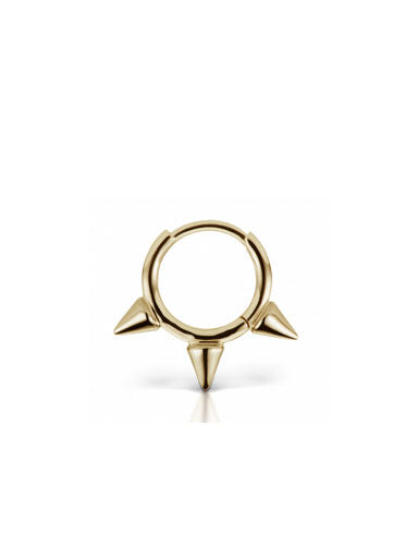"Maria Tash - 5/16"" Triple Spike Non-Rotating Ring"