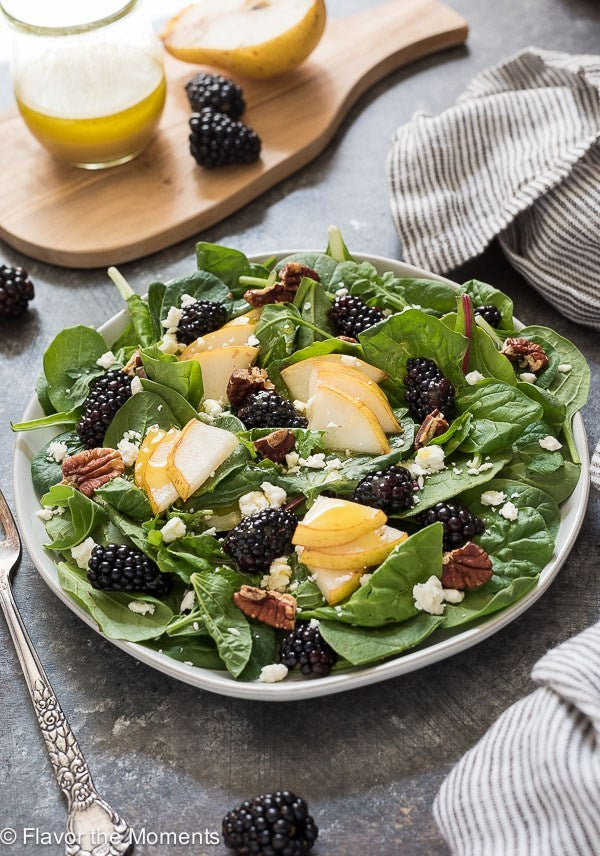 Persian Lime and Blackberry Ginger Pear Salad
