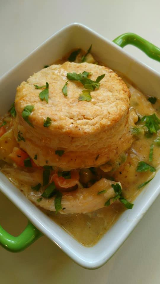 MUSHROOM SAGE INFUSED CHICKEN POT PIE
