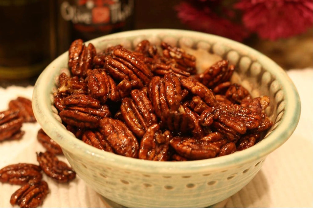 Maple Balsamic Glazed Pecans