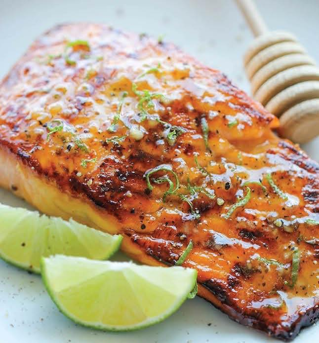 Golden Pineapple Balsamic and Persian Lime Glazed Salmon Fillets