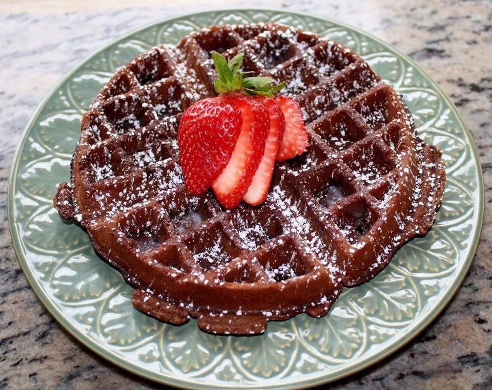 Chocolate Blood Orange Waffles