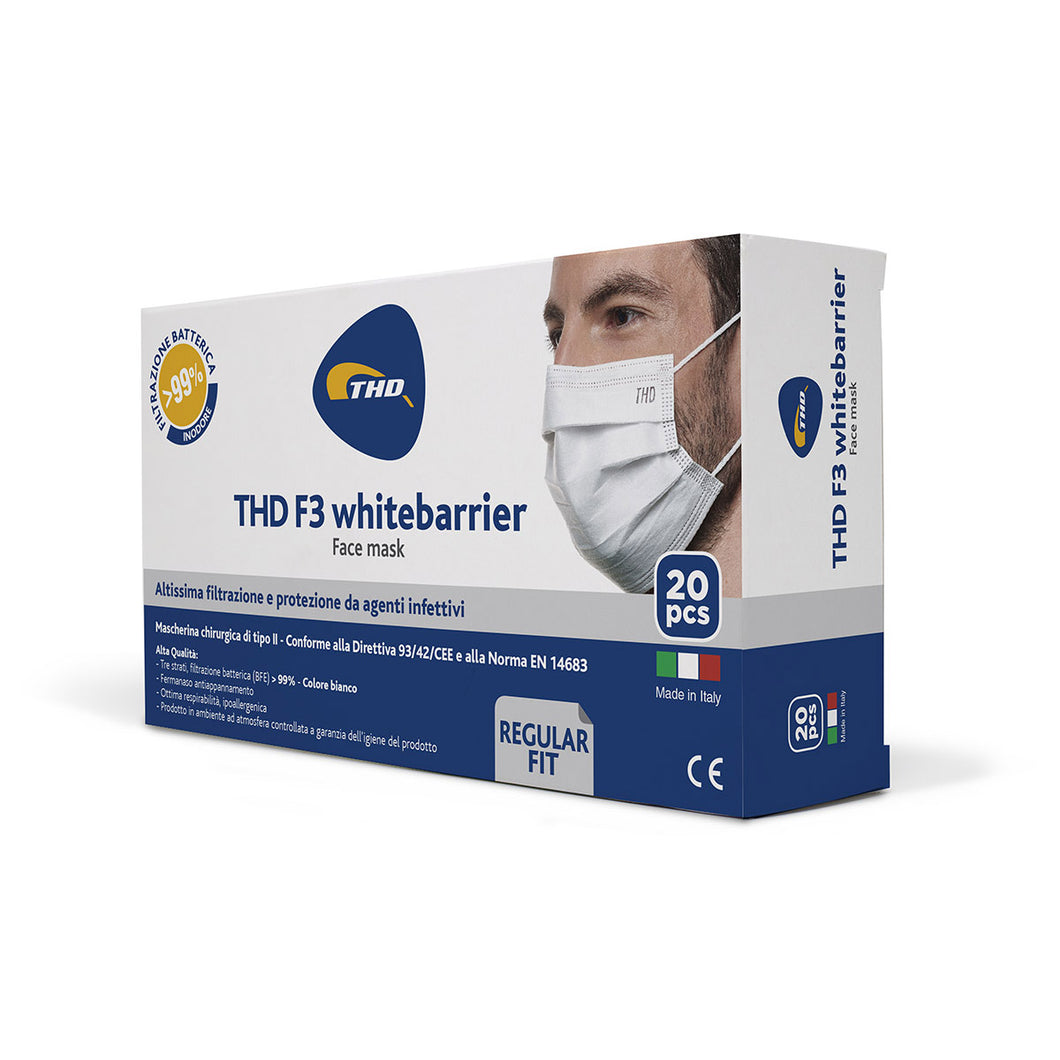 Omaggio - THD Facemask F3 - Bianca - Regular