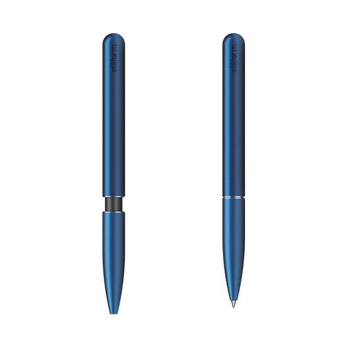 Aluminium Ballpoint Pen Blue stilform JAPAN