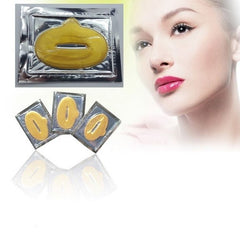 24K GOLD LIP MASKS CRYSTAL COLLAGEN PATCH ANTI AGEING WRINKLE MOISTURIZE