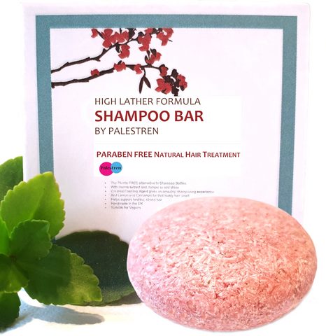 Hair Shampoo Bar by Palestren ® - High Lather Formula Natural Shampoo Bar - Plastic free, Paraben Free