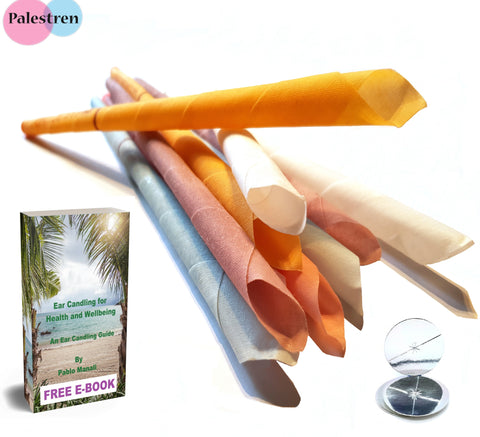 Natural Ear Candles Hopi Ear Candles 10 Pack (5 pairs) Beeswax Ear Candling Cones Organic ear wax removal blocked ears therapeutic tinnitus relief, sinus release, migraine relief, holistic treatment