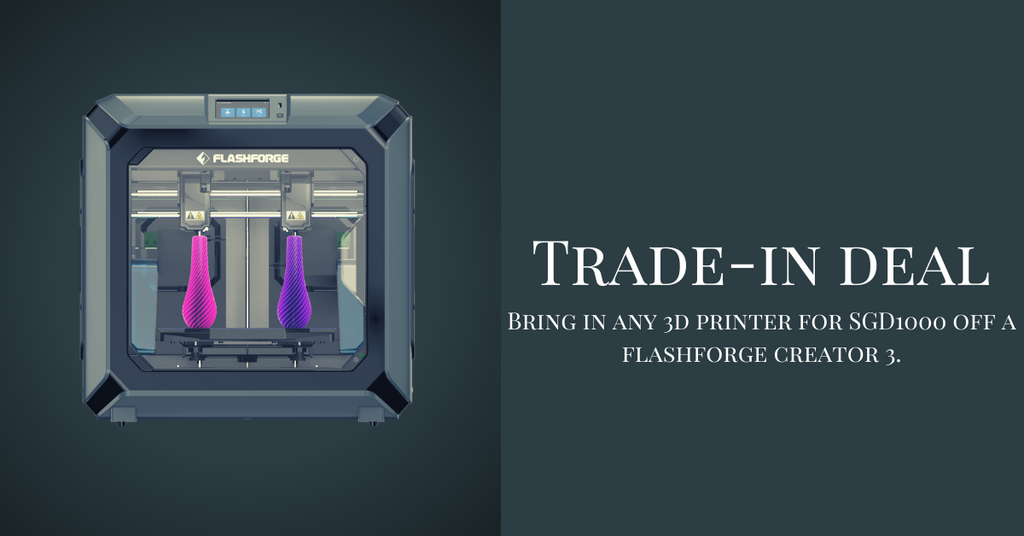Trade-in any old 3D Printer for a brand new FlashForge 3D Printer