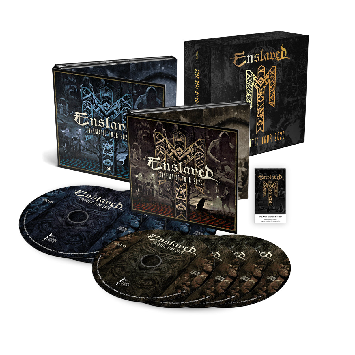 Enslaved - Cinematic Tour 2020 4x CDs + 4x DVDs (PAL) Boxset