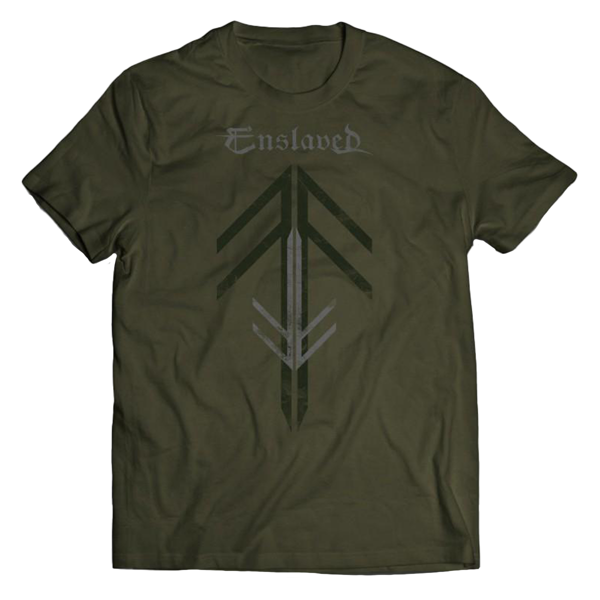 Enslaved - Rune Cross T-Shirt green
