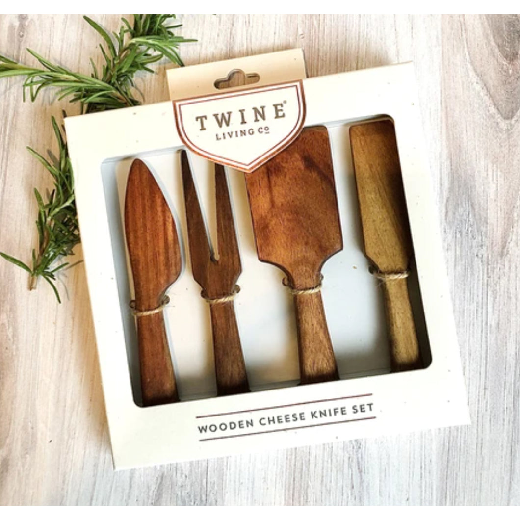 Twine | Wooden Cheese Knives