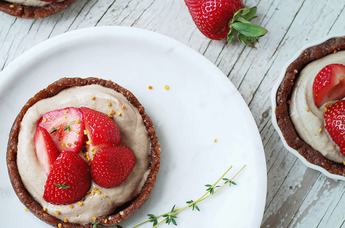 Strawberry and cream tarts…and make it organic!
