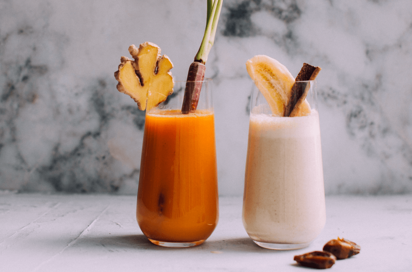 Smoothie Battle: Tahini-Date or Carrot-Mango-Ginger?