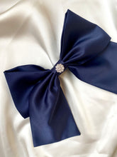 Load image into Gallery viewer, Navy Satin Beau