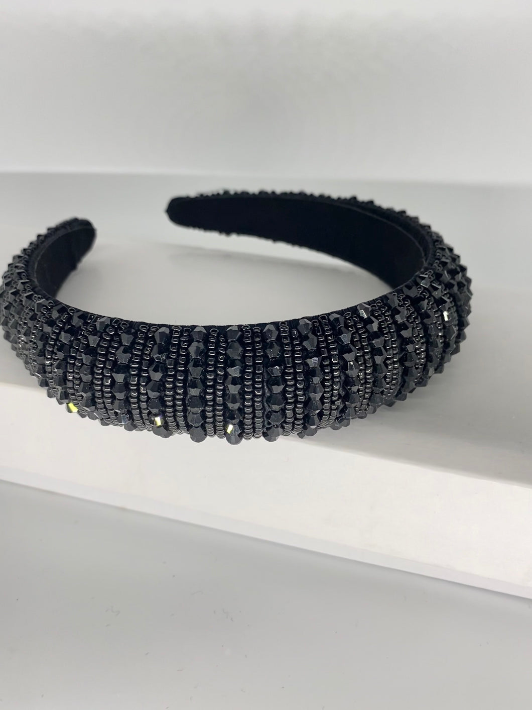 Black bling headband