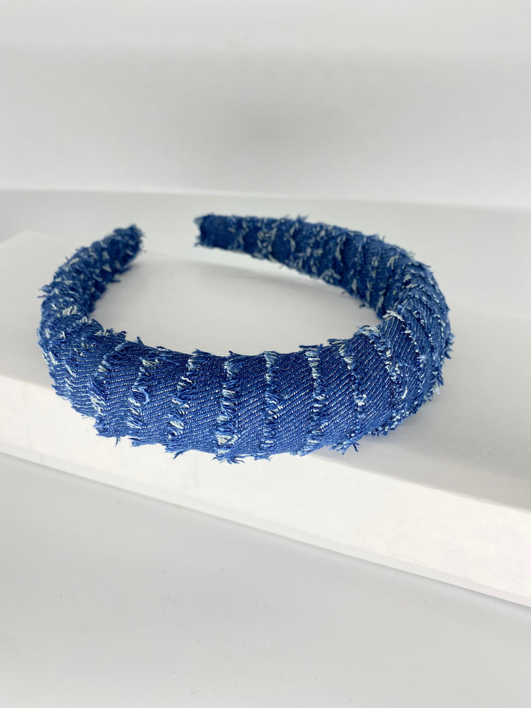 Dark Blue jean headband