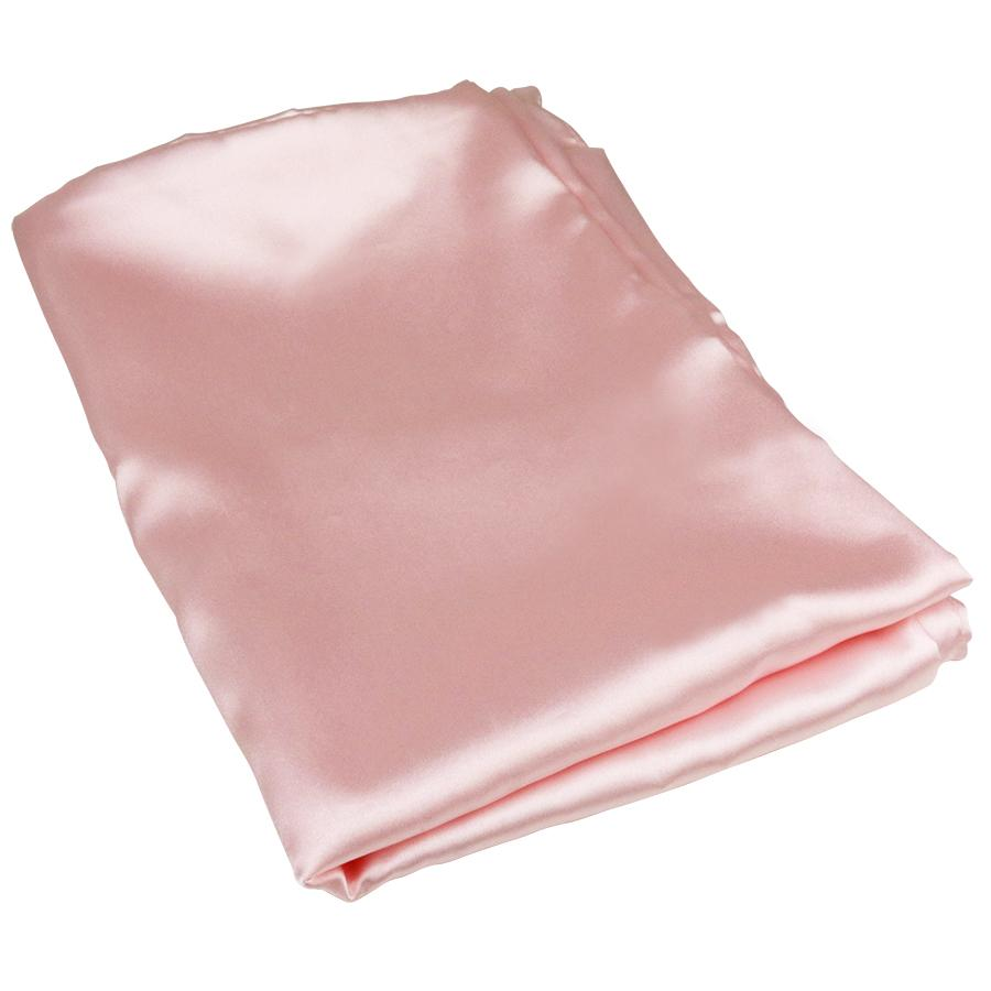Aria Luxury Silky Pillowcases (Pink, Silver & White)