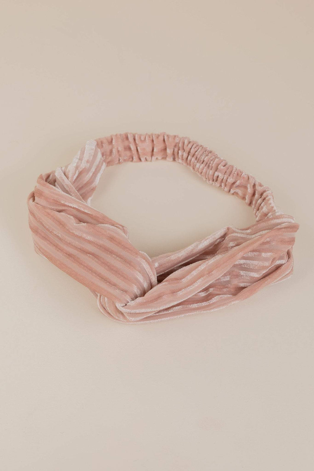 Pleated Velvet Twist Headband (Multiple Colours)