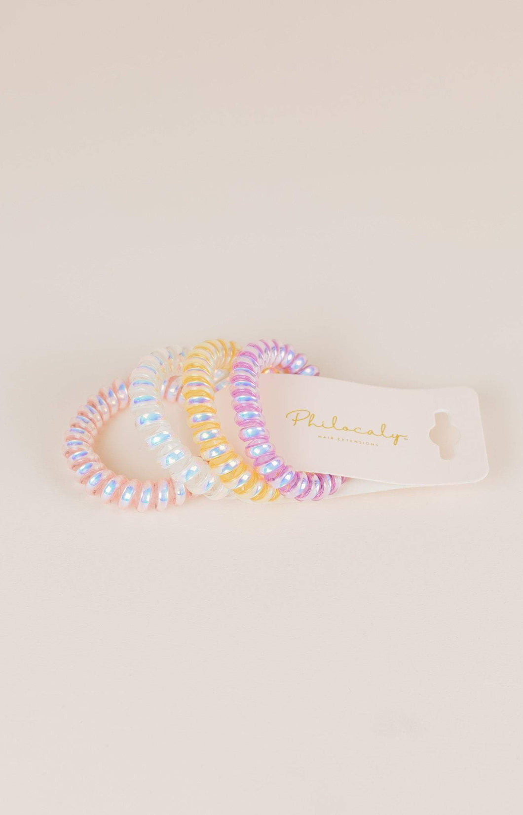 Philocaly Coiled Hair Tie Set (Multiple Colours)