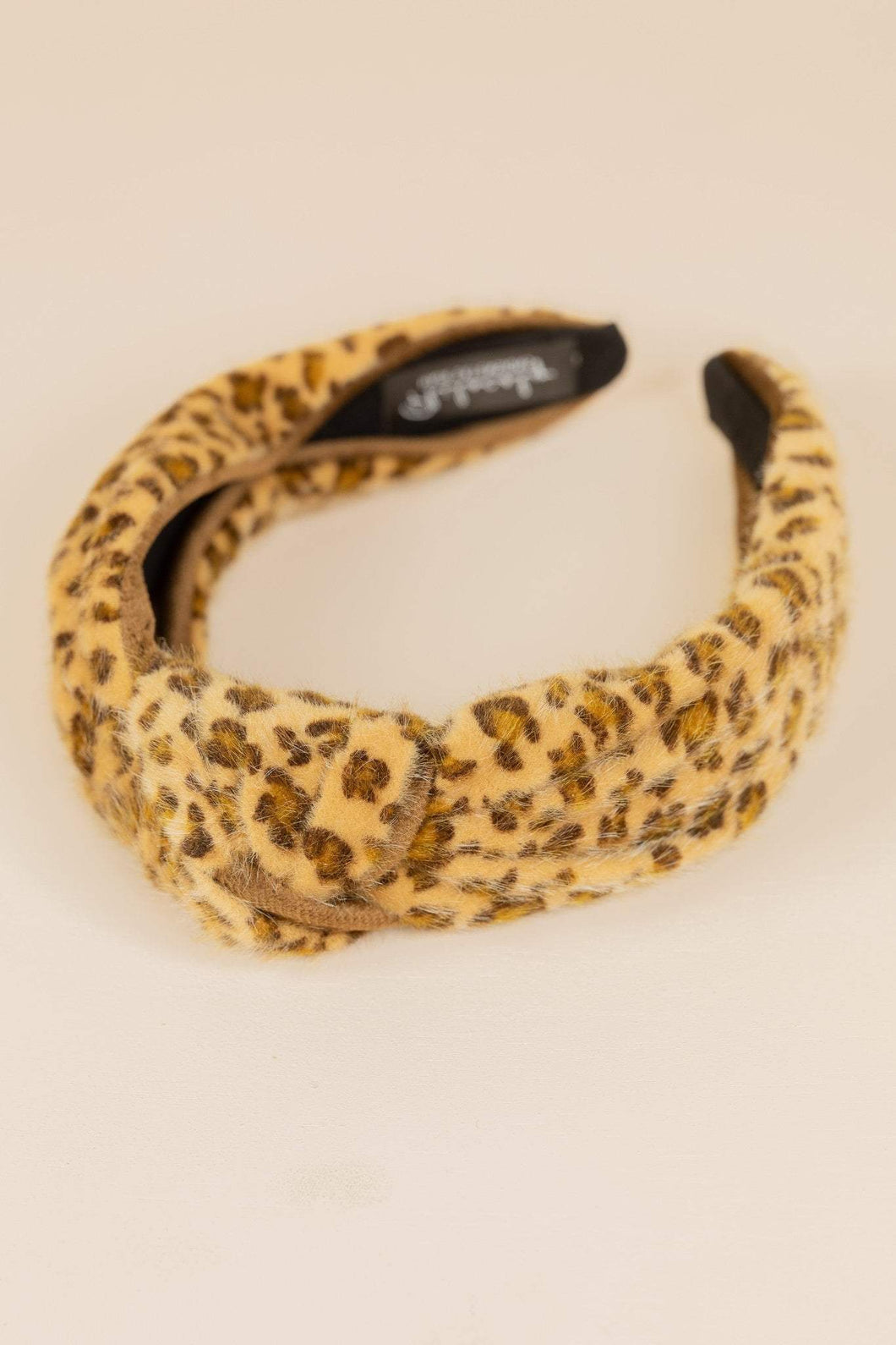 Philocaly Leopard Faux Fur Headband