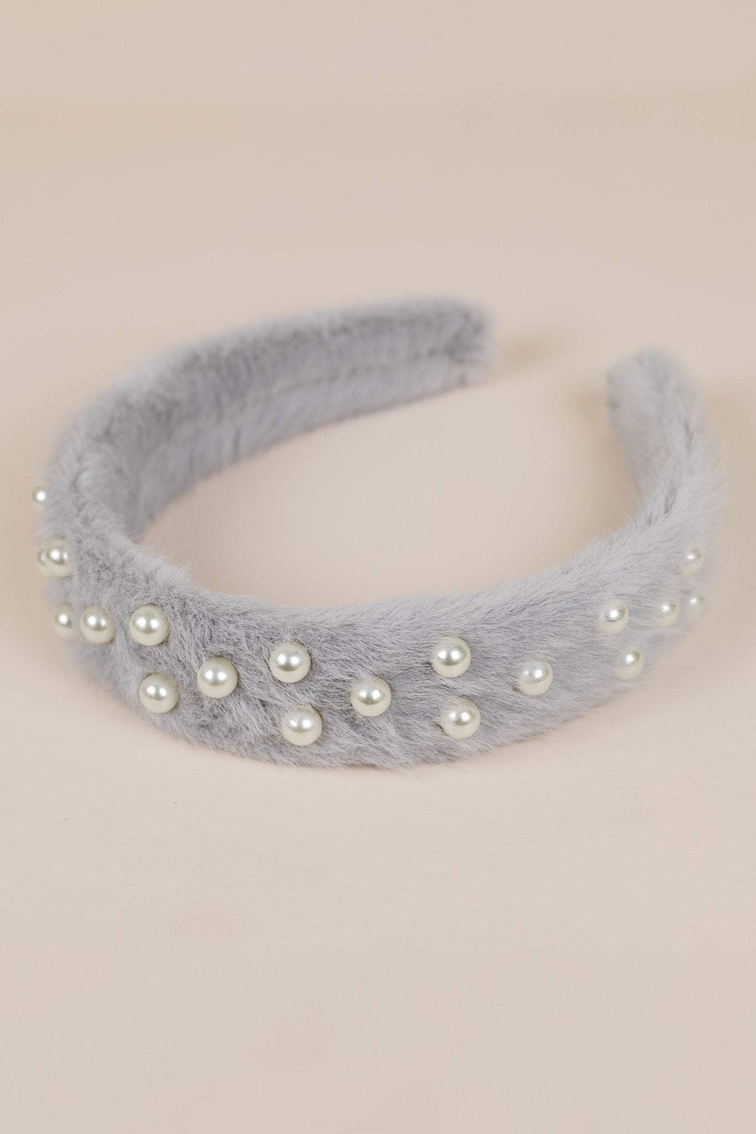 Philocaly Pearl Faux Fur Headband