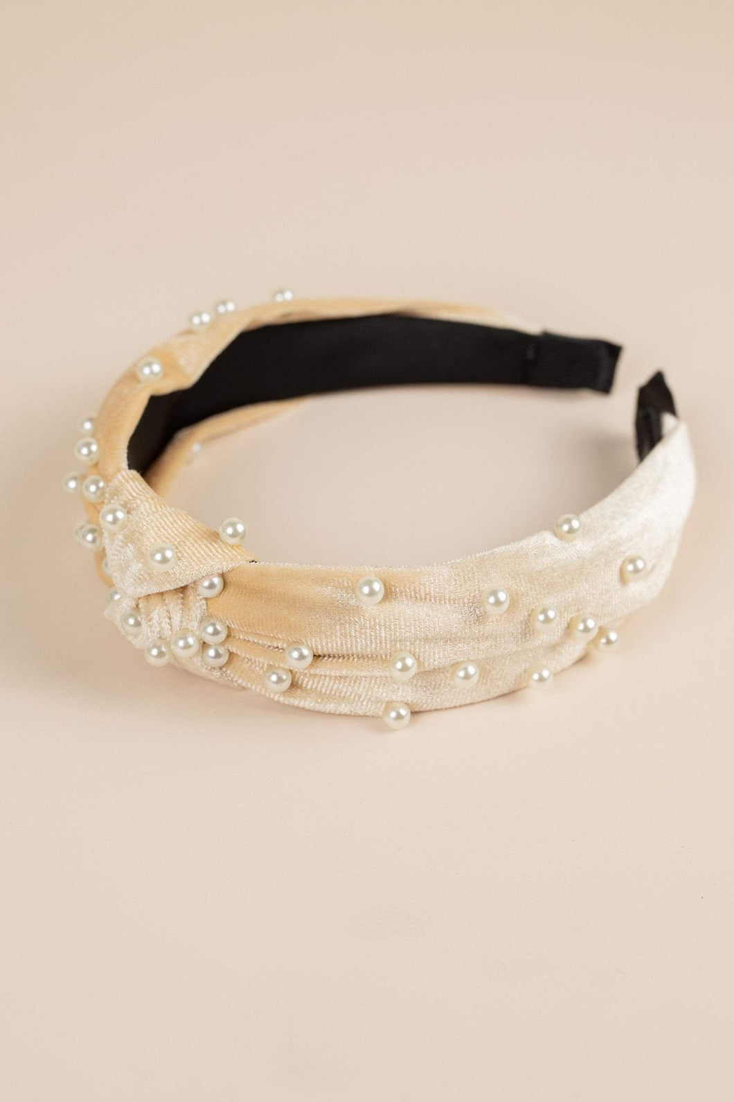 Philocaly Velvet Pearl Headband (Multiple Colours)