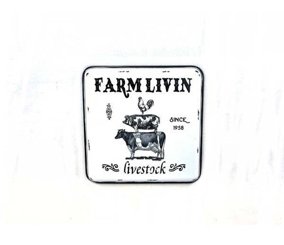 Square Farm Livin Wall Decor