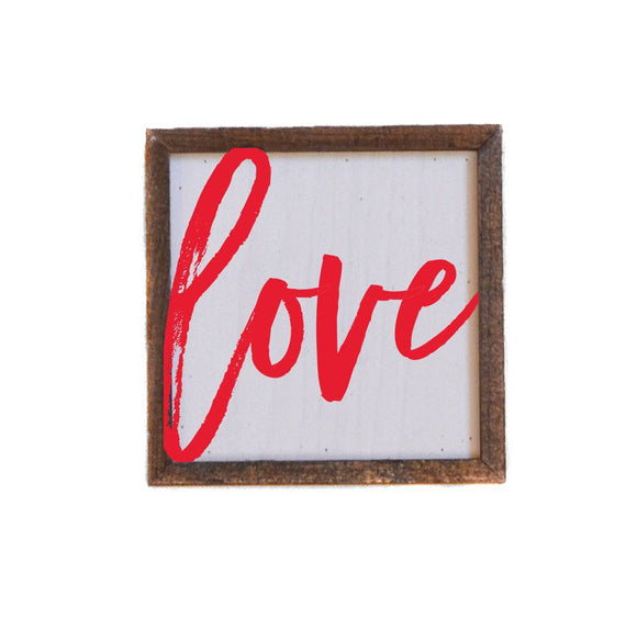 Love Sign (red)- Valentine's Day Sign 6x6