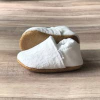 Lacey White Moccasins ~ Baby Size 3-6 months