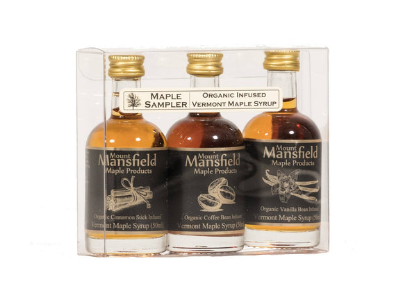 3-pack Organic Infused Maple Syrup Sampler - Small