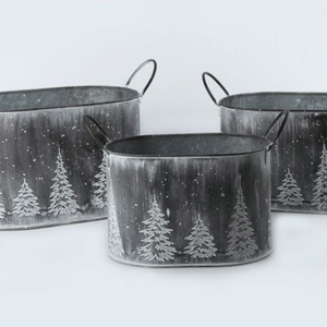 White Washed Tree Buckets