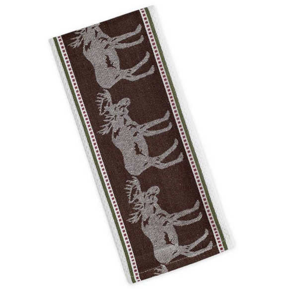 Moose Jacquard Dishtowel