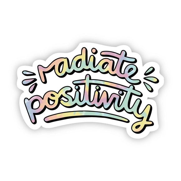 Radiate Positivity Tie Dye Aesthetic Sticker