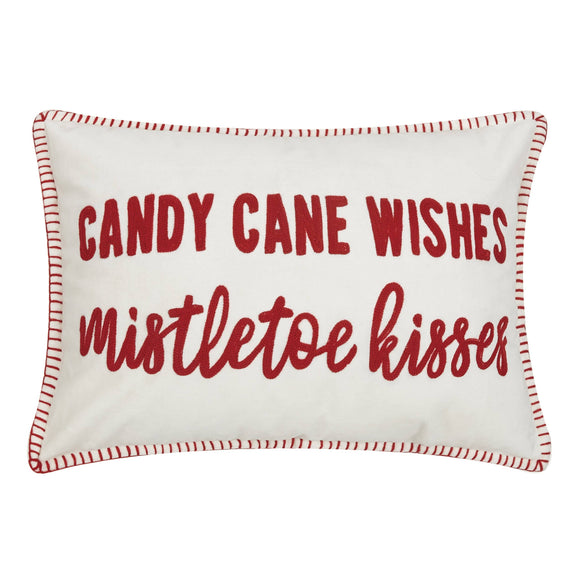 Candy Cane Wishes Pillow - Christmas