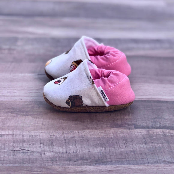 Sweet Treats Moccasins, 6-9 months