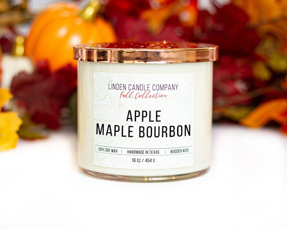Apple Maple Bourbon Fall Candle, 16 oz