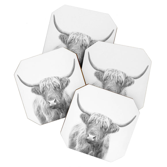Highland Bull Coaster Set
