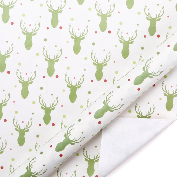 Reindeer Kraft Wrapping Paper Sheets
