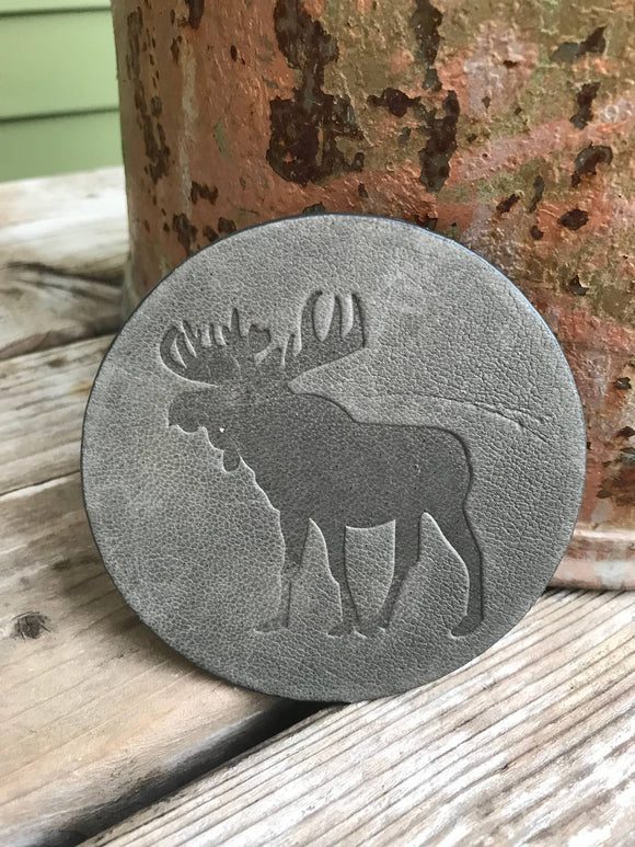 Moose Leather Coaster