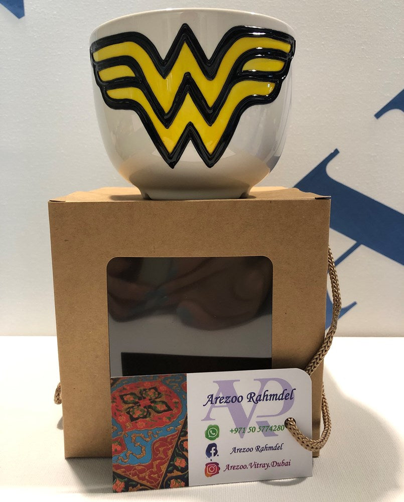 super heroes vitray mug wonder woman